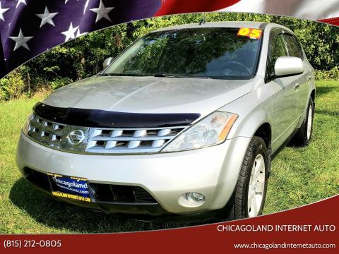 2005 Nissan Murano for sale at Chicagoland Internet Auto - 410 N Vine St New Lenox IL, 60451 in New Lenox IL