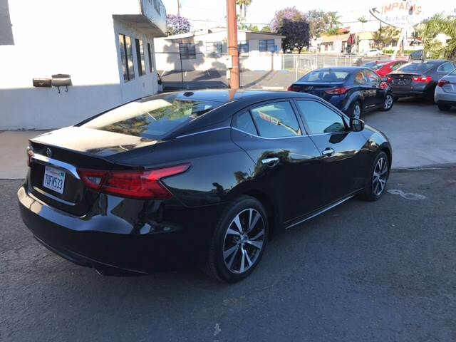 2017 Nissan Maxima 3.5 S 4dr Sedan (midyear release) - San Diego CA