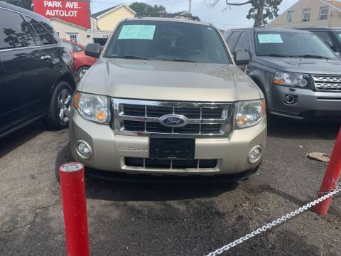 2010 Ford Escape for sale at Park Avenue Auto Lot Inc in Linden NJ