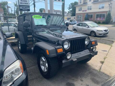 2005 Jeep Wrangler for sale at Park Avenue Auto Lot Inc in Linden NJ