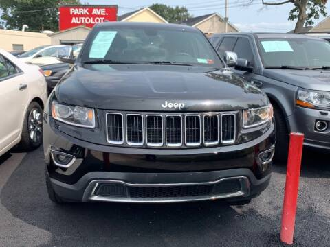 2015 Jeep Grand Cherokee for sale at Park Avenue Auto Lot Inc in Linden NJ