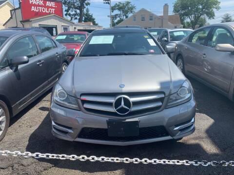 2012 Mercedes-Benz C-Class for sale at Park Avenue Auto Lot Inc in Linden NJ
