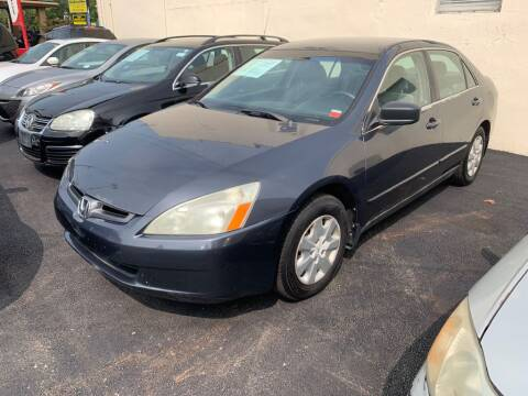 2003 Honda Accord for sale at Park Avenue Auto Lot Inc in Linden NJ