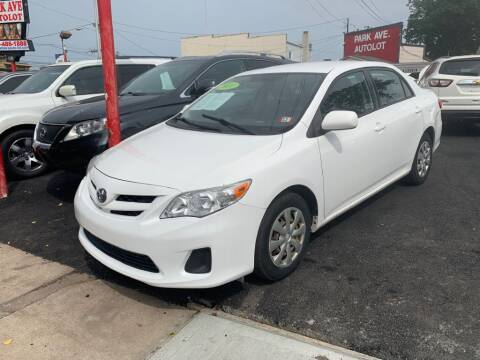 2011 Toyota Corolla for sale at Park Avenue Auto Lot Inc in Linden NJ