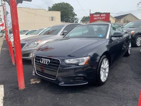 2013 Audi A5 for sale at Park Avenue Auto Lot Inc in Linden NJ