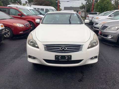 2012 Infiniti G37 Coupe for sale at Park Avenue Auto Lot Inc in Linden NJ