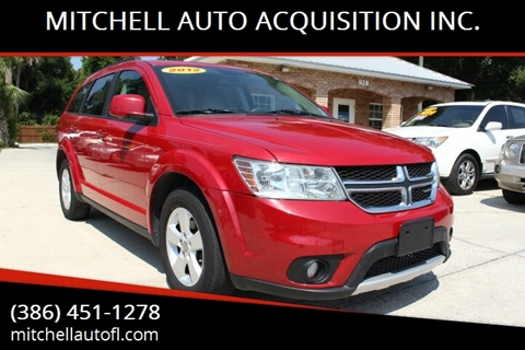2012 Dodge Journey for sale at MITCHELL AUTO ACQUISITION INC. in Edgewater FL