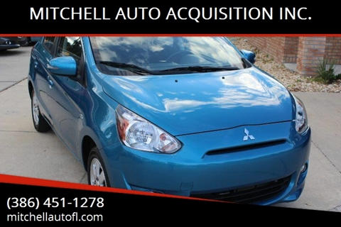 2015 Mitsubishi Mirage for sale at MITCHELL AUTO ACQUISITION INC. in Edgewater FL