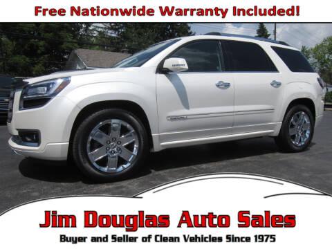 2015 GMC Acadia for sale at Jim Douglas Auto Sales in Pontiac MI