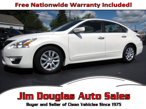 2015 Nissan Altima for sale at Jim Douglas Auto Sales in Pontiac MI