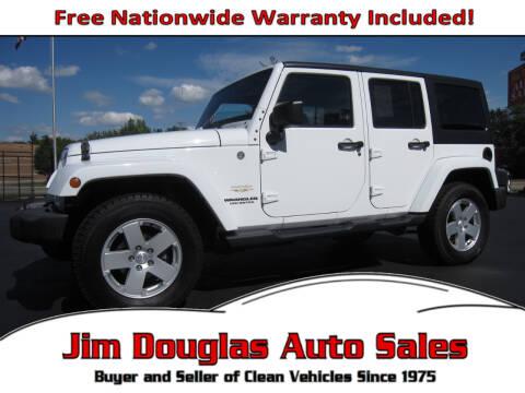 2012 Jeep Wrangler Unlimited for sale at Jim Douglas Auto Sales in Pontiac MI