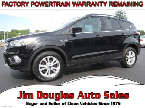 2018 Ford Escape for sale at Jim Douglas Auto Sales in Pontiac MI