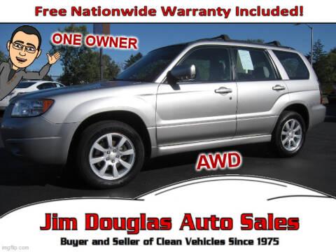 2007 Subaru Forester for sale at Jim Douglas Auto Sales in Pontiac MI