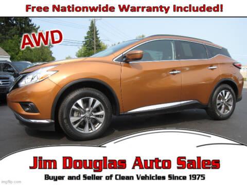 2017 Nissan Murano for sale at Jim Douglas Auto Sales in Pontiac MI