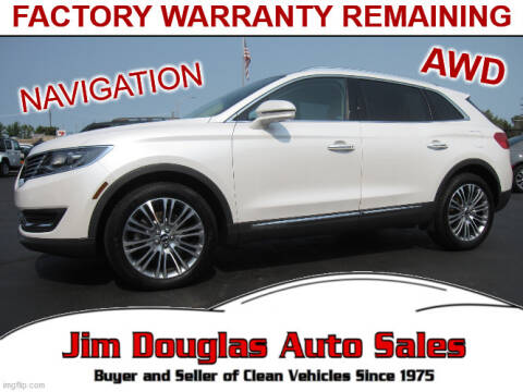 2016 Lincoln MKX for sale at Jim Douglas Auto Sales in Pontiac MI