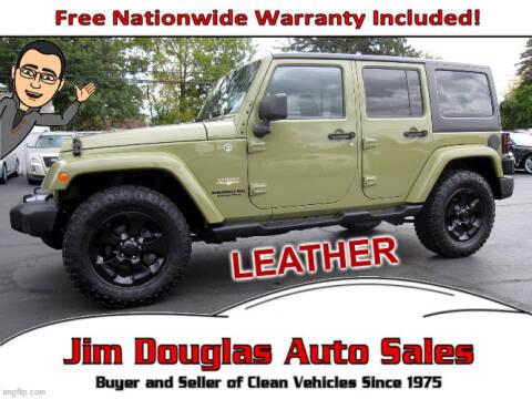 2013 Jeep Wrangler Unlimited for sale at Jim Douglas Auto Sales in Pontiac MI