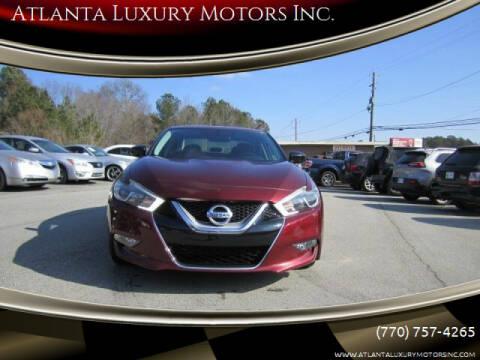 2016 Nissan Maxima for sale at Atlanta Luxury Motors Inc. in Buford GA