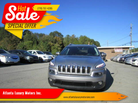 2014 Jeep Cherokee for sale at Atlanta Luxury Motors Inc. in Buford GA