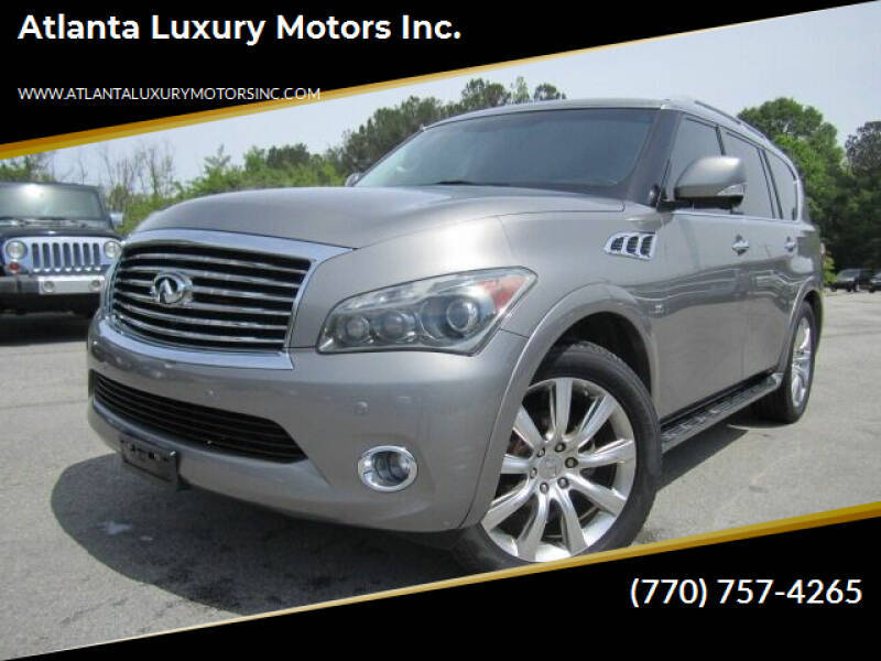 2014 Infiniti QX80 for sale at Atlanta Luxury Motors Inc. in Buford GA