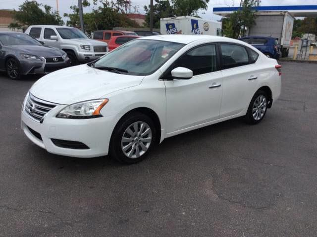 2014 NISSAN SENTRA SV 4DR SEDAN cream executive motors is a family owned and operated dealership