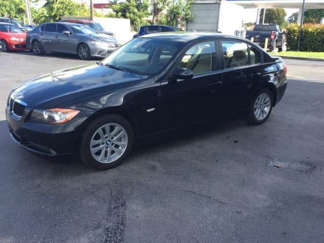 2006 BMW 3 SERIES 325I 4DR SEDAN black 2006 bmw 328i 4 door black with the tan interior sunroof a