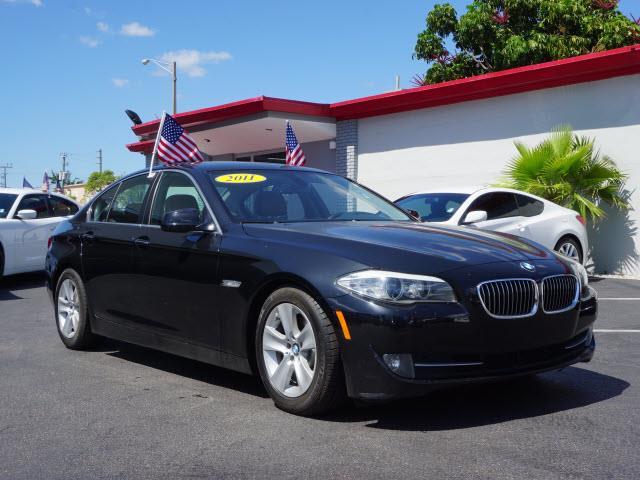 2011 BMW 5 SERIES 528I 4DR SEDAN black memorized settings includes driver seatmemorized settings