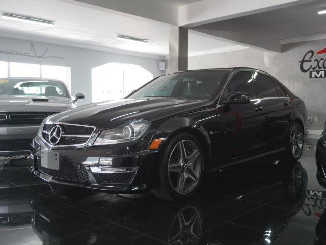 2012 MERCEDES-BENZ C-CLASS C63 AMG 4DR SEDAN black all our cars and trucks are doubled checked fo