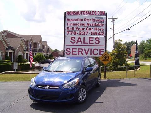 2015 Hyundai Accent for sale at Rons Auto Sales INC in Lawrenceville GA