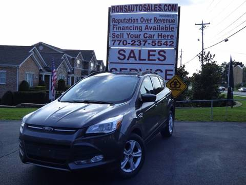 2015 Ford Escape for sale at Rons Auto Sales INC in Lawrenceville GA