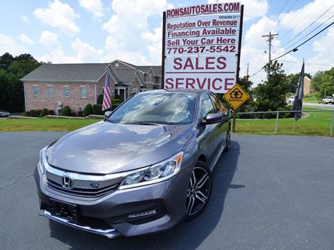 2016 Honda Accord for sale at Rons Auto Sales INC in Lawrenceville GA