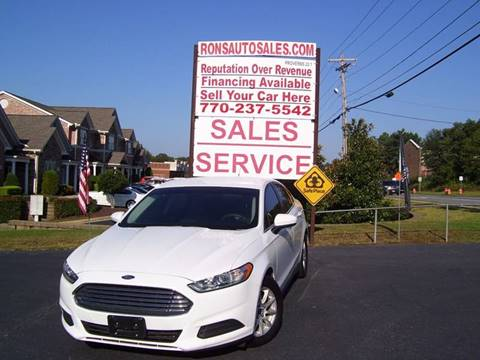 2016 Ford Fusion for sale at Rons Auto Sales INC in Lawrenceville GA
