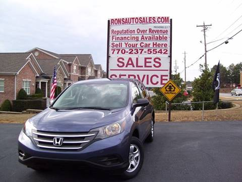 2014 Honda CR-V for sale at Rons Auto Sales INC in Lawrenceville GA