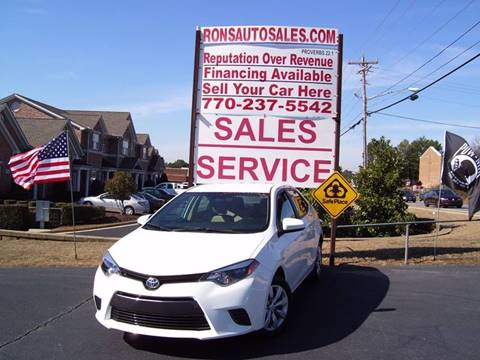 2016 Toyota Corolla for sale at Rons Auto Sales INC in Lawrenceville GA