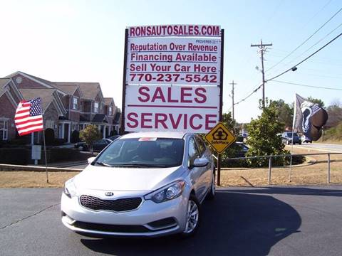 2016 Kia Forte for sale at Rons Auto Sales INC in Lawrenceville GA