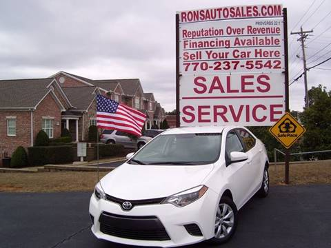 2015 Toyota Corolla for sale at Rons Auto Sales INC in Lawrenceville GA