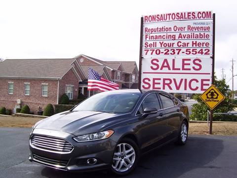 2015 Ford Fusion for sale at Rons Auto Sales INC in Lawrenceville GA