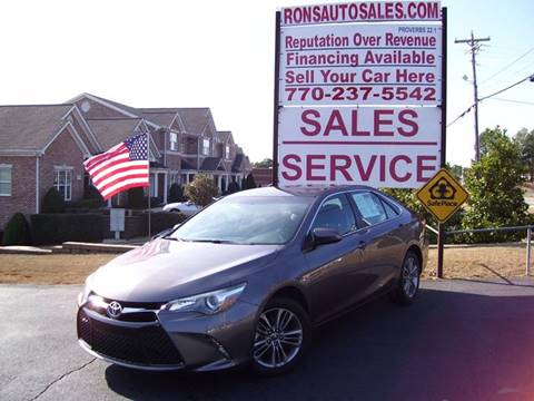 2015 Toyota Camry for sale at Rons Auto Sales INC in Lawrenceville GA