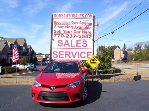 2014 Toyota Corolla for sale at Rons Auto Sales INC in Lawrenceville GA