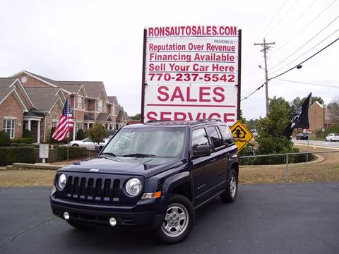 2012 Jeep Patriot for sale at Rons Auto Sales INC in Lawrenceville GA