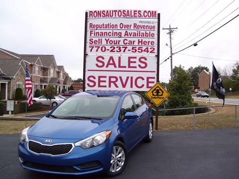 2015 Kia Forte for sale at Rons Auto Sales INC in Lawrenceville GA