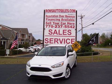 2015 Ford Focus for sale at Rons Auto Sales INC in Lawrenceville GA