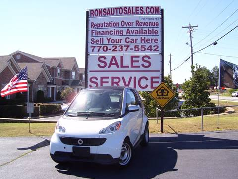 2014 Smart fortwo for sale at Rons Auto Sales INC in Lawrenceville GA