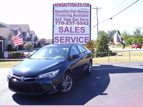 2016 Toyota Camry for sale at Rons Auto Sales INC in Lawrenceville GA