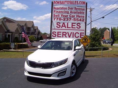 2015 Kia Optima for sale at Rons Auto Sales INC in Lawrenceville GA