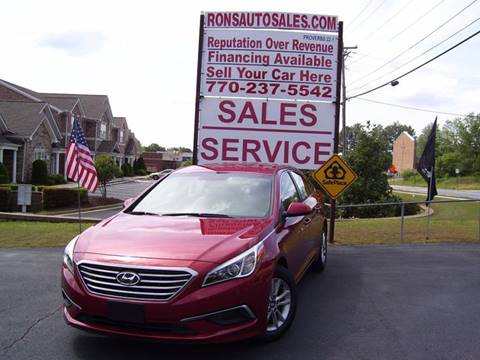 2016 Hyundai Sonata for sale at Rons Auto Sales INC in Lawrenceville GA