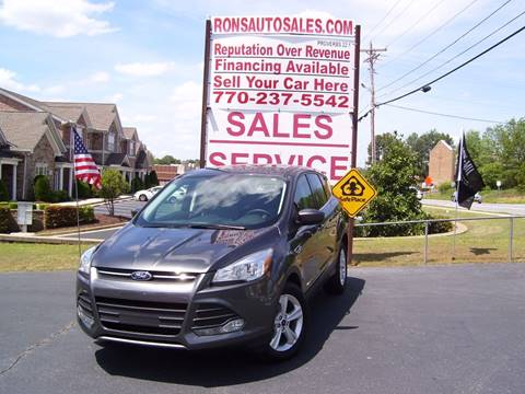 2016 Ford Escape for sale at Rons Auto Sales INC in Lawrenceville GA