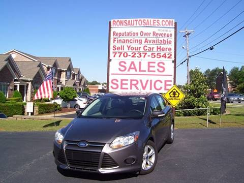2014 Ford Focus for sale at Rons Auto Sales INC in Lawrenceville GA