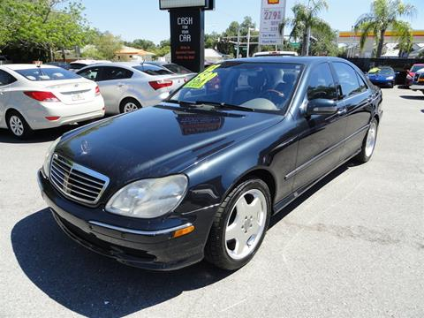 2002 Mercedes-Benz S-Class for sale at DeWitt Motor Sales in Sarasota FL