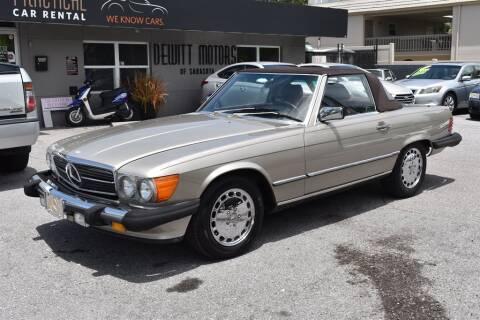 1988 Mercedes-Benz 560-Class for sale at DeWitt Motor Sales in Sarasota FL