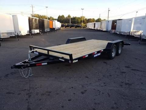 2020 Sure-Trac 7X18 7K WOOD DECK CAR HAULER  for sale in Taylor, PA